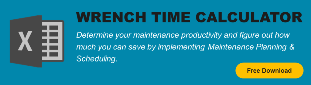 wrench time or maintenance productivity improvement calculator